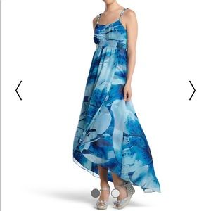 NWT WHBM floral wrap maxi dress